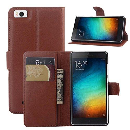 Guran® Ledertasche Tasche für Xiaomi Mi 4i Smartphone Flip Cover Standing Funktion & Kartensteckplatz Handytasche Wallet Hülle