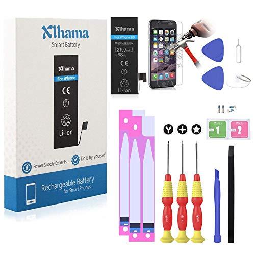 Xlhama Batería Alta Capacidad compatible para iPhone 6S Li-ion 2100mAh con Juegos de Herramientas de Reparación, Instrucciones y Protector de Pantalla,La producción de 2019