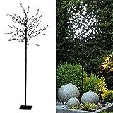 Tronje LED Baum Kirschblüten 180 cm - 200 LEDs Kirschblütenbaum warmweiß Deko Lichterbaum Leuchtbaum Außen