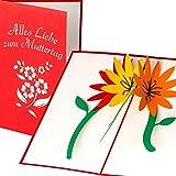 Muttertagskarte mit 3D Blumen Motiv Alles Liebe zum Muttertag handgefertigt, 3D Pop Up Karte, Grußkarte, Muttertagsgeschenk, Geschenk zum Muttertag, Muttertag-Karte