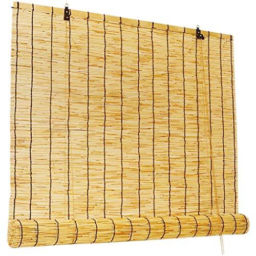 Outech Estores para Ventana Sombreado Persianas Enrollables de Bambú Paja Persianas de Caña Natural para Exterior Tejido a Mano