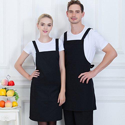 Hotel M?nner und Frauen Schürze Restaurant Kaffee Kellner Schürze Sch?nheit Uniformen H?ngen Hals Schürze,B