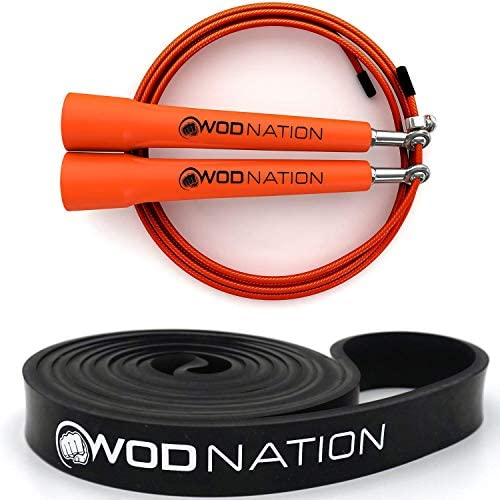 Orange Speed Jump Rope 13 16 Black Resistance Band 30 to 60 Pounds of Resistance product image