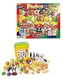 120 Teile Lebensmittel für Spielküche Kaufladen mit Box Obst Gemüse Speisen UVM