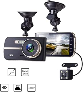 Mengen88 Dashboard Camera 1080p 170° Wide Angle Full HD 8 Million Pixels Recorder with G-Sensor, Loop Recording Collision Induction High Definition Night Vision