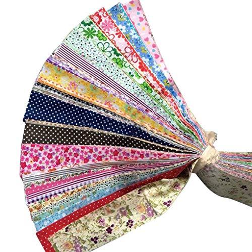 30 stks bloem dot streep katoenen doek diy naaien patchwork quilten pop doek handgemaakte handwerken stof