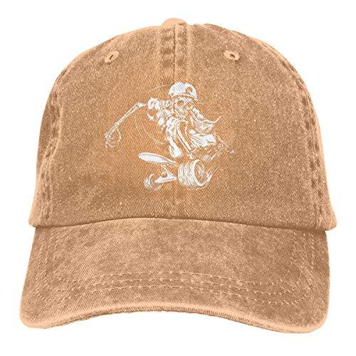 XCNGG Art Skull Skateboarding Sombreros de Vaquero Unisex Sombrero de Mezclilla Deportivo Gorra de béisbol de Moda Negro