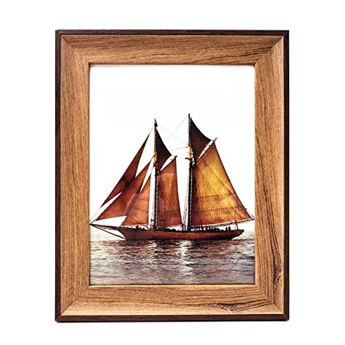 GooBeans Document Picture Frame, 8.2x11.7 Photo Frames can be Mounted Horizontally or Vertically and is Crafted from 100% Recycled and Reclaimed Wood   No Assembly Required, A4 Size