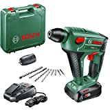 Bosch Akku Bohrhammer Uneo Maxx (1 Akku, 18-Volt-System, max. Bohrdurchmesser in Beton 10 mm, im Koffer)