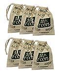 Earthwise bolsas reutilizables de algodón para la compra y almacenamiento de alimentos a granel, nueces, frijoles, arroz, harina, azúcar produce cordón, juego de 6
