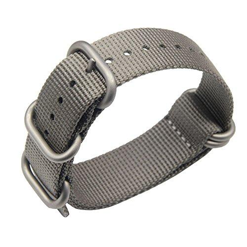 22 millimetri grigio stile robusto esotico nylon morbido polso banda vigilanza del wristband uomini di sport