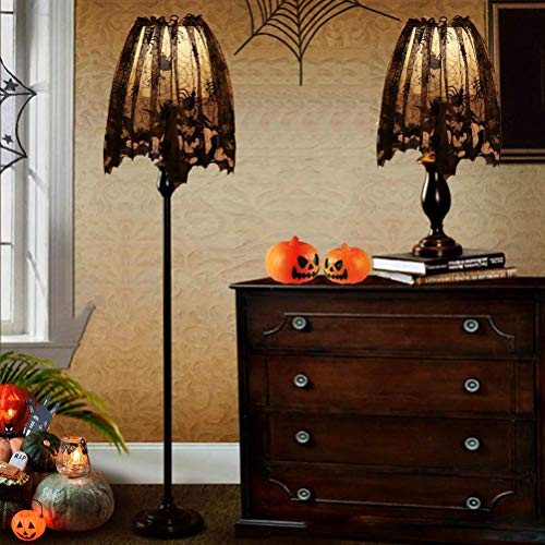 Daxoon spinnennet lampenkappen Halloween spinnennet haard sjaal voor Halloween Party Decor