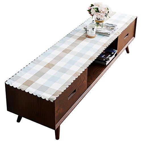 XPY-Table decoration Chemin de Table Nappes Nordique Salon Plaid Nappe rectangulaire Meuble TV Tissu Petite Table Basse Tapis Tissu bâche de comptoir Chiffon , 60 * 180 cm, Un