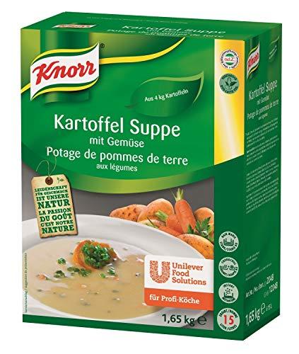 Knorr Kartoffelsuppe mit Gemüse  Trockenmischung (natürlicher Kartoffelgeschmack, leichte Gemüsenote) 1er Pack (1 x 1,65kg)