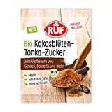 RUF Bio Kokosblütenzucker mit Tonka, vegan, nicht raffiniert, Zuckeralternative, 10 g