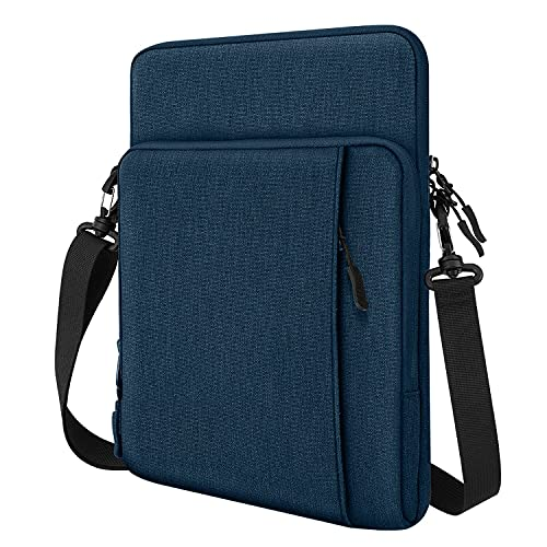TiMOVO 13.3 Inch Tablet Sleeve Case Compatible with iPad Pro 12.9 2020/2021, MacBook Air 13 Inch, MacBook Pro 13', Galaxy Tab S7+, Surface Pro X/7/6/5/4/3, Shoulder Bag with Pockets, Indigo