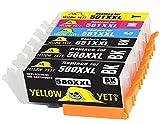 Yellow Yeti Sostituzione per Canon PGI-580XXL CLI-581XXL 6 Cartucce d'Inchiostro compatibili con Canon Pixma TS6150 TS6250 TS8150 TS8250 TR8550 TS9550 TS705 TR7550 TS9150 TS6251 TS6151 TS9551C