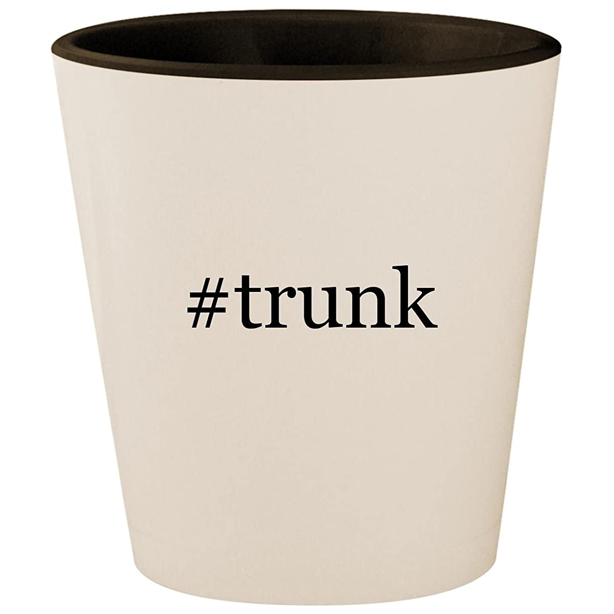 #trunk - Hashtag White Outer & Black Inner Ceramic 1.5oz Shot Glass