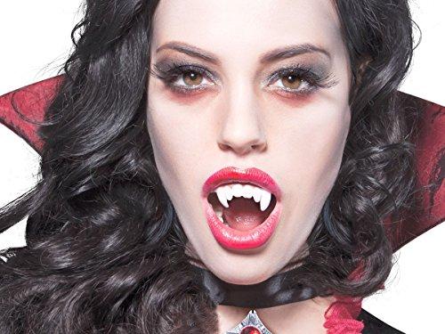 Alsino Denti da Vampiro in plastica (74585), canini dentiera Dracula Taglia Unica, Travestimento terrificante per Halloween e Carnevale, Accessorio, Ideale per Feste a Tema Horror Orrore