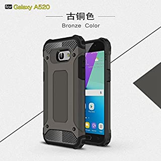 ZITEZHAI-protection Removable double tough style Shockproof PC+TPU Protective Hard Case for Samsung Galaxy A5 2017 A520 (Color : Bronze)