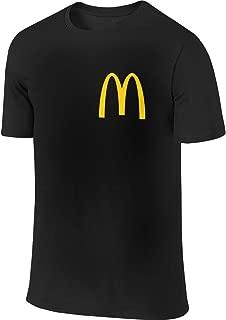 Mens Classic McDonalds Logo Graphic Tee T Shirt Short Sleeve Tshirt for Men T-Shirt Crew Neck Clothes