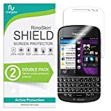 (2-Pack) RinoGear BlackBerry Q10 Screen Protector Case Friendly Screen Protector for BlackBerry Q10 Accessory Full Coverage Clear Film