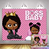 Baby B-OSS Backdrop African American Little Girl Pink Dots Photography...