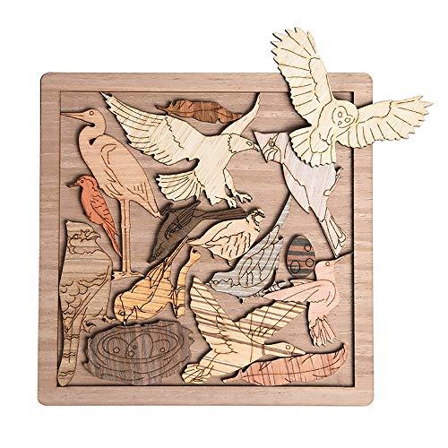 Puzzle Tangram Adulto Jigsaw Súper Difícil Auto-tortura Brain-Brade Amantes De Los Pájaros Adulto Adulto Dificultades De Décimo Grado Dificultad 16 Piezas 0111