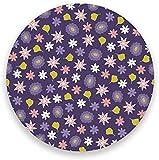 Posavasos Bebidas Mesa absorbente Verano Hojas florales exóticas Base de corcho de cerámica redonda Taza de café Tazas de vidrio Bar Casa de campo Decoración para el hogar Juego de 1 color