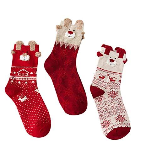 jimackey 5 Paia Calza Di Natale Con Nome Calze Elasticizzate Per Neonati, Bambini; Calze Di Natale Con Fiocco Di Neve, Babbo Natale, Calzini Caldi, Elk Cartoon Christmas