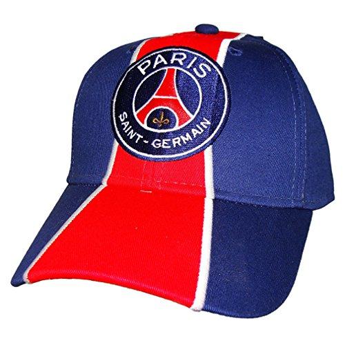 PSG - Casquette PSG Officielle - Taille réglable - Couleur : Bleu, Rouge