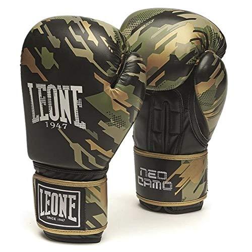 Leone1947 Boxhandschuhe Neo Camo - Camo Grün - Boxhandschuhe Boxen Kickboxen Sparring Muay Thai - Solide Boxhandschuhe mit Air Cool Innenhand im Camo Style (16 Unzen)