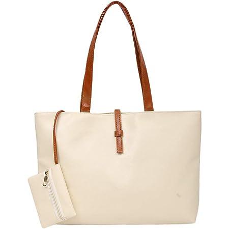 Stilvolle Damen PU Leder Einkaufstasche Umhängetaschen Hobo Handtaschen Umhängetasche Geldbörse mit zusätzlicher Kleiner Tasche- BCVBFGCXVB
