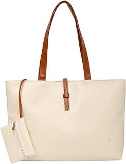 Stilvolle Damen PU Leder Einkaufstasche Umhängetaschen Hobo Handtaschen Umhängetasche Geldbörse mit zusätzlicher Kleiner T...