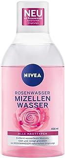 NIVEA Rosenwater micelwater (400 ml), gezichtsreiniging met MicellAir-technologie en natuurlijk rozenwater, zacht micelrei...