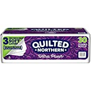 Quilted Northern Ultra Plush Toilet Paper, 30 Jumbo Rolls, 3-ply Extra Wide Bath Tissue, White, 5 Packs of 6 Jumbo Rolls