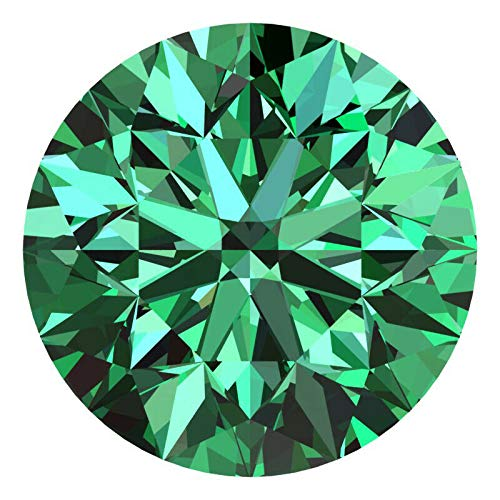 CERTIFIED 1.3 MM / 0.01 Cts. Natural Loose Diamonds, Pack of 10, Fancy Green Color Round Brilliant Cut SI3-I1 Clarity 100% Real Diamonds by IndiGems