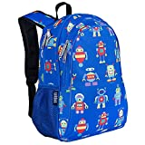 Wildkin 15 Inch Kids Backpack for Boys & Girls, 600-Denier Polyester Backpack for Kids, Features Padded Back & Adjustable Strap, Perfect Size for School & Travel Backpacks, BPA-free (Robots)