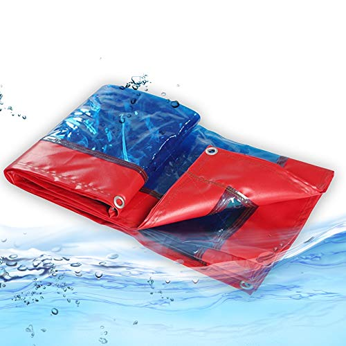 Lona MYAN Impermeable, Toldo Transparente Plástico Chapas Impermeable A Prueba De Polvo Cortina para Pérgola, Porche, Kiosko, Cabaña, 0,5mm Espesor Personalizado Tamaños