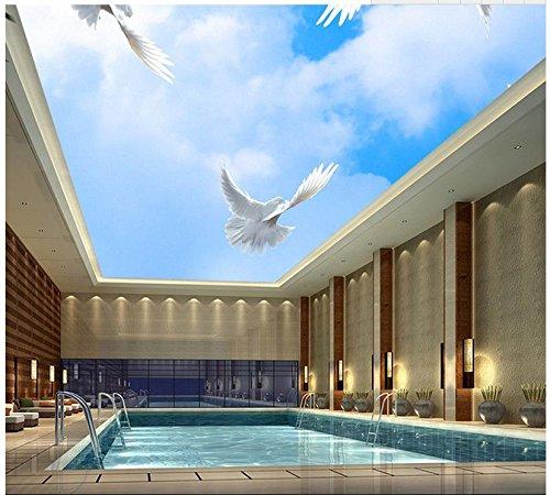 Yosot 3D aangepaste behang huis decoratie blauwe hemel en witte wolken vliegen in de hemel duif plafond achtergrond muurschilderingen 400cmx280cm