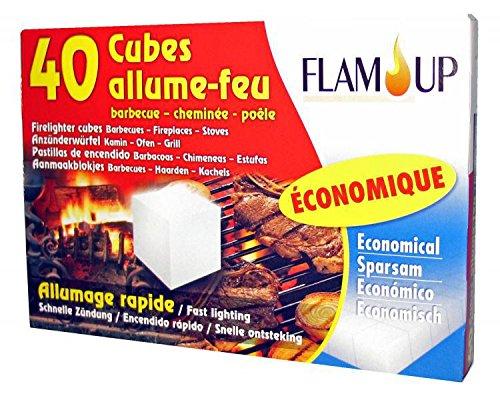 Flam'Up 0600 Allume-feu économique 40 Cubes