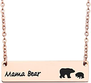 Sweet Family Mama Bear Necklace Mama-Baby Necklace Wife Gift Jewelry