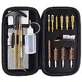 APCHYWELL 18 PCS Handgun Cleaning Kit for.22 .9mm/.357/.38/ .40 .45 Caliber Pistol with Bronze Bore Brush, Brass Jag Adapter, Empty Bottle, Nylon Brushes
