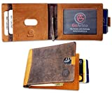 GoArtea Leather RFID Blocking Slim Bifold Minimalistic Front Pocket Brown Men's Wallet