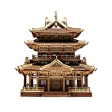 Rompecabezas 3D de Madera para Adultos, Regalos de Juguetes de Bricolaje, Kit de Modelo de Construcción Xiaoyao de Edificio Antiguo, Regalos de Juguete Educativo, Kits de Modelo Artesanal de Autoens