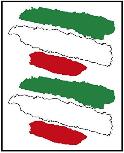 Artimagen Pegatina Bandera Trazos Italia 2 uds. 65x40 mm/ud.