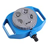 Yolispa Watering Lawn Sprinkler Garden Plants Flowers 5 Functions Multi Use Irrigation System for Water Garden Crop Roof Platio