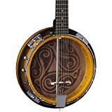 Luna Celtic 6-String Banjo, Tobacco Burst