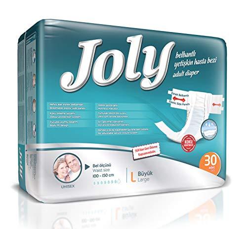 Abelsmann - 30 Stück - Joly Inkontinenz-Windeln für Erwachsene - Größe L - Gegen starke Blasenschwäche
