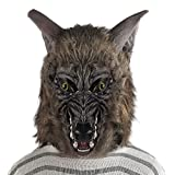 Halloween Mask Werewolf Hat Wolf Scary Horror Costume Party Fancy Dress Hairy Full Head Adult Men Women Teen